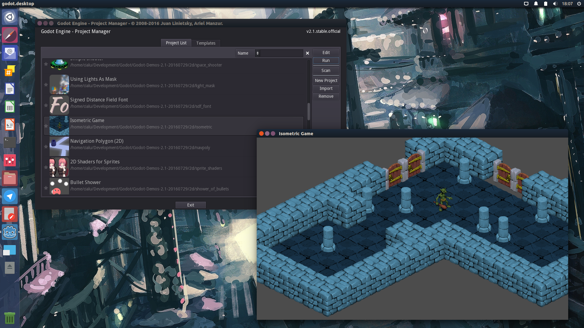 install godot game engine on fedora or ubuntu cialu net