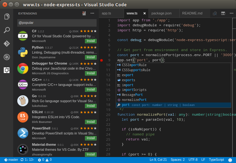 Debug code right from the editor of Visual Studio Code on Linux