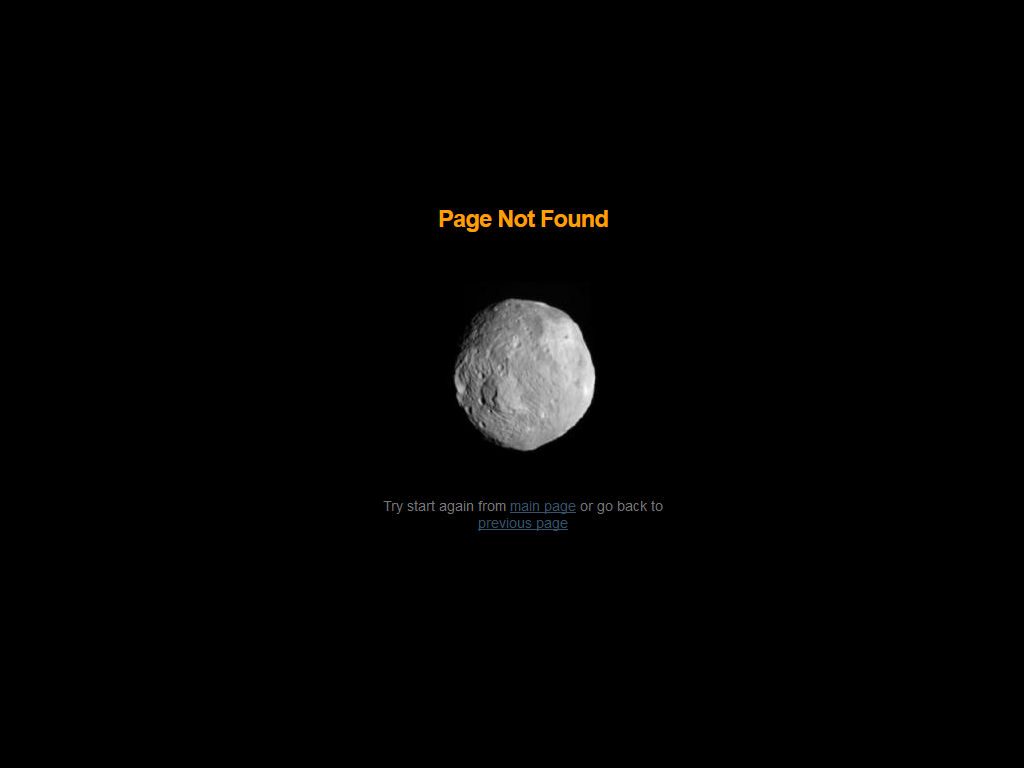 The moon of the 404 error page in VestaCP control panel