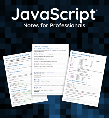 JavaScript Notes for Professionals book - Stack Overflow Documentation