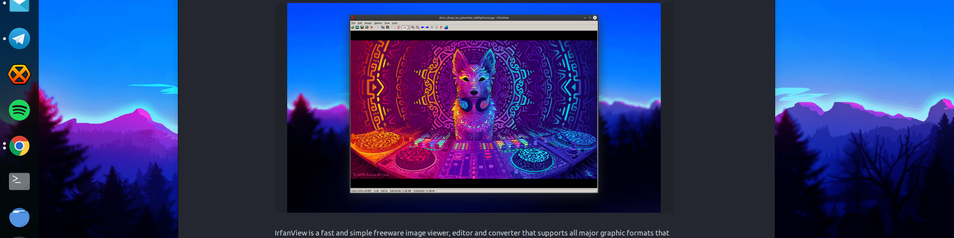 IrfanView is a fast and simple freeware image viewer, editor and converter