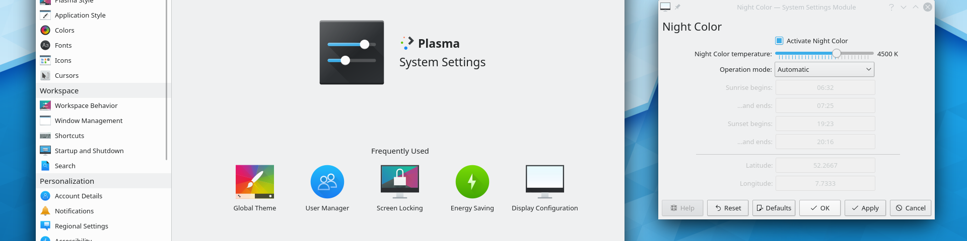A bugfix update to KDE Plasma 5, versioned 5.17.3