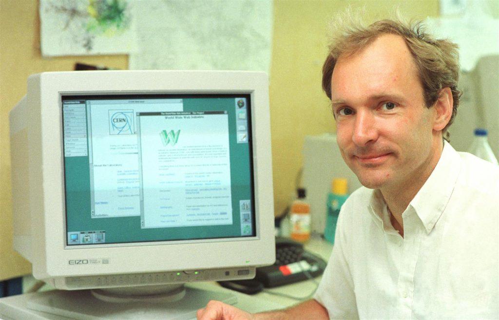 Tim Berners-Lee, pictured at CERN (Image: CERN)
