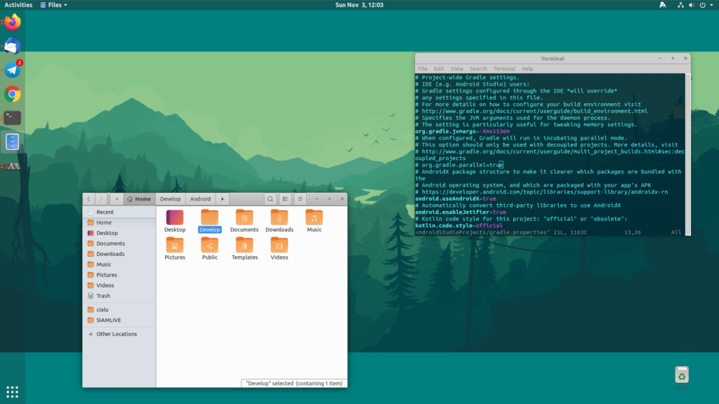 Ubuntu 19.10 with GNOME 3.34
