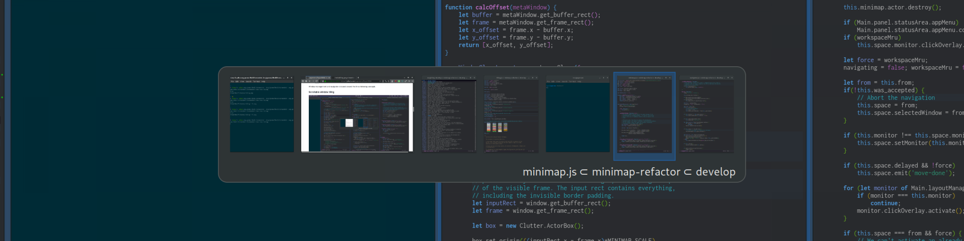 PaperWM is an experimental Gnome Shell extension providing scrollable tiling of windows and per monitor workspaces