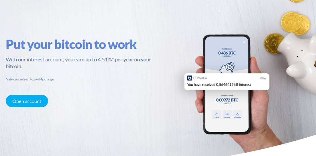 Bitwala. Put your bitcoin to work